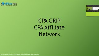 CPA GRIP Affiliate Network details